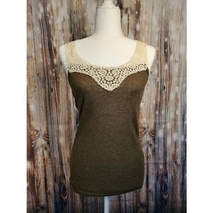 A'Reve Anthropologie Woven Sleeveless Top Large